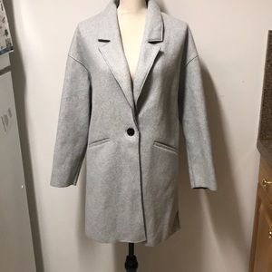 Zara TRF felt coat sz M